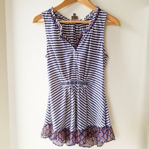One September Anthropologie Striped Tank Top